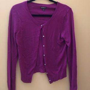 Express burgundy cardigan
